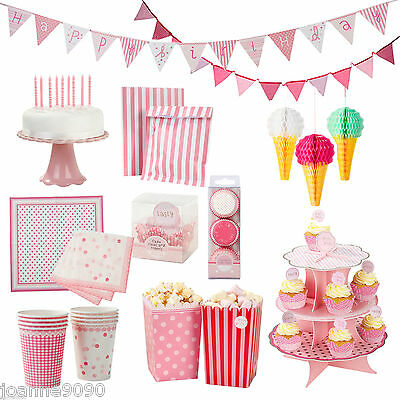 TALKING TABLES PINK N MIX PARTYWARE AFTERNOON TEA HEN PARTY RETRO LUXURY VINTAGE