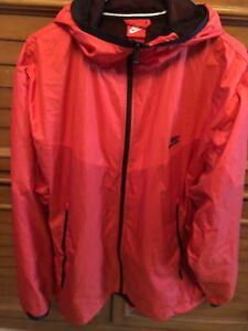 9b427b435fa7 Nike Windrunner Jacket Hood Packable Full Zip NWT Mens XXL Red W ...