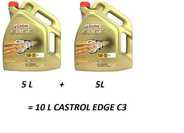 2X 5 L= 10 L CASTROL EDGE TITANIUM FST 5W30 C3 HUILE MOTEUR BMW norm Longlife 04