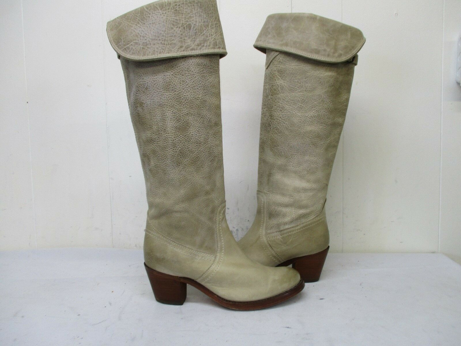 Frye Jane Tall Cuff Stone Leder Distressed Over the Knee Stiefel Damenschuhe Größe 6 B