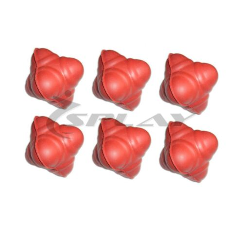 Cricket Speed Agility Reaction Six Sided Rubber Ball for Training 6 Pack