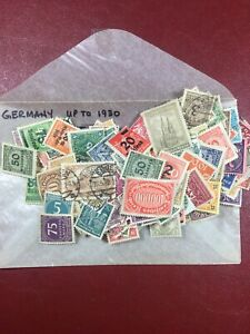 175 Different Germany Stamps Earlier To 1930 Mint And Used With Free US Shipping