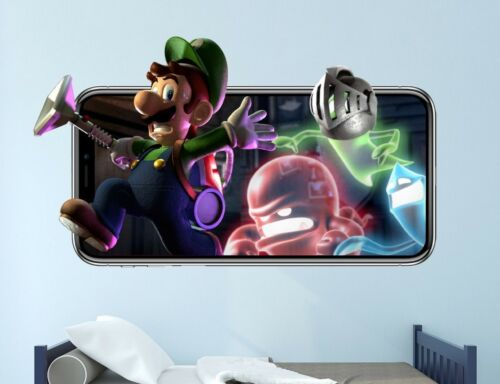 Luigi Mansion Wall Decal VideoGame 3D Sticker Decor Mural Vinyl Kids Room MA52