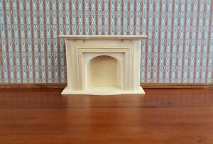 Togudot 1:12 Miniature Wooden Fireplace Vintage Black White Dollhouse Mini Furniture Decoration Accessories