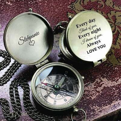 """""""So You Can Always Find Your Way Back Home"""" Camping Compass  Lot of 5 Pieces"""