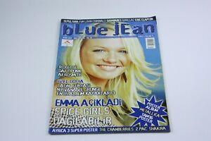 BLUE JEAN #4 Turkish Music Magazine 2000s EMMA BUNTON COVER Kurt Cobain RARE