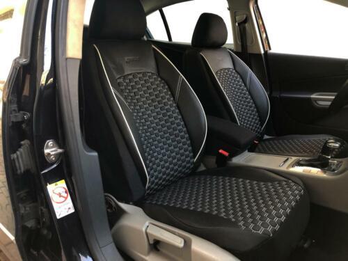 Sitzbezüge Schonbezüge für Chevrolet Captiva schwarz-weiss V1523052 Vordersitze