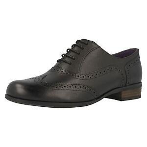 Hamble Style Cuir Oak Noir Chaussures Clarks À Richelieu Femmes 5SO1qT6cwY