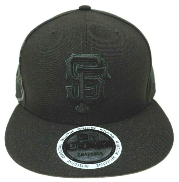 a4c6e4473db San Francisco GIANTS Reflective Snapback Cap MLB NEW ERA 9FIFTY Hat Adult  OSFM
