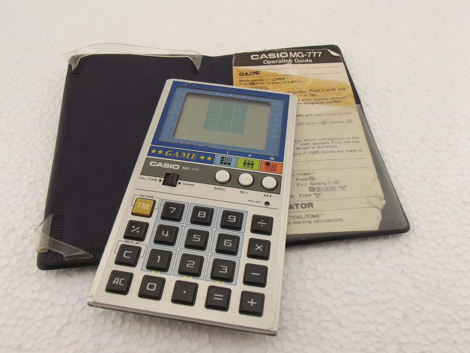 Vintage Casio Game Calculator MG-777 Nissan Blaubird Promotional  1982 RARE
