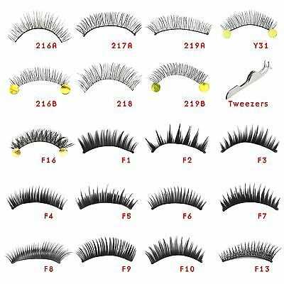 10 Pairs Handmade False Eyelashes Natural Long Thick Fake Eye Lashes