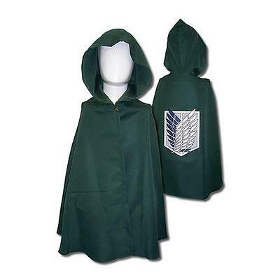 ATTACK ON TITAN Deluxe SURVEY CORPS Insignia COSPLAY Cloak w/ Hood CAPE