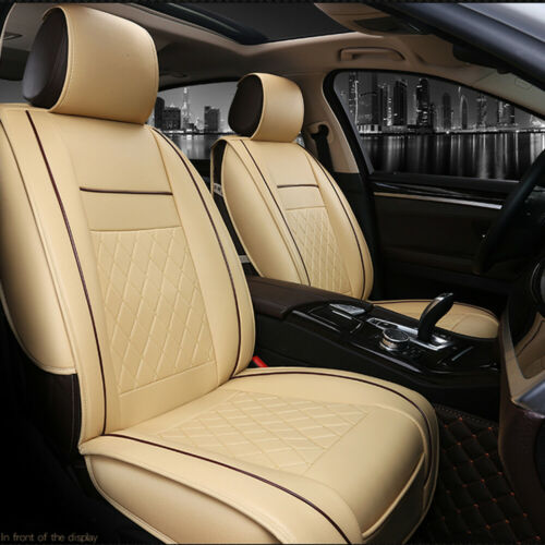 Universal Luxury 3D Car Front Seat PU Leather Car Seat Cover Seat Cushion C5R3
