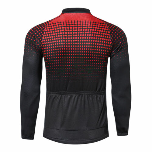 Men/'s Long Sleeve Cycle Jersey Top Blue Green Red MTB Cycle Jersey Shirt  S-5XL