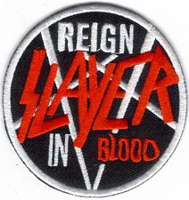 SLAYER REIGN IN BLOOD EMBROIDERED PATCH !