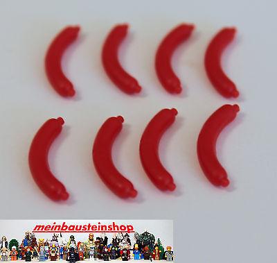 8x Lego ® 33078 Rossa Salsiccia Salsicce Hot Dog Red Festival Rosso 4520952 Nuovo-mostra Il Titolo Originale Impermeabile, Resistente Agli Urti E Antimagnetico