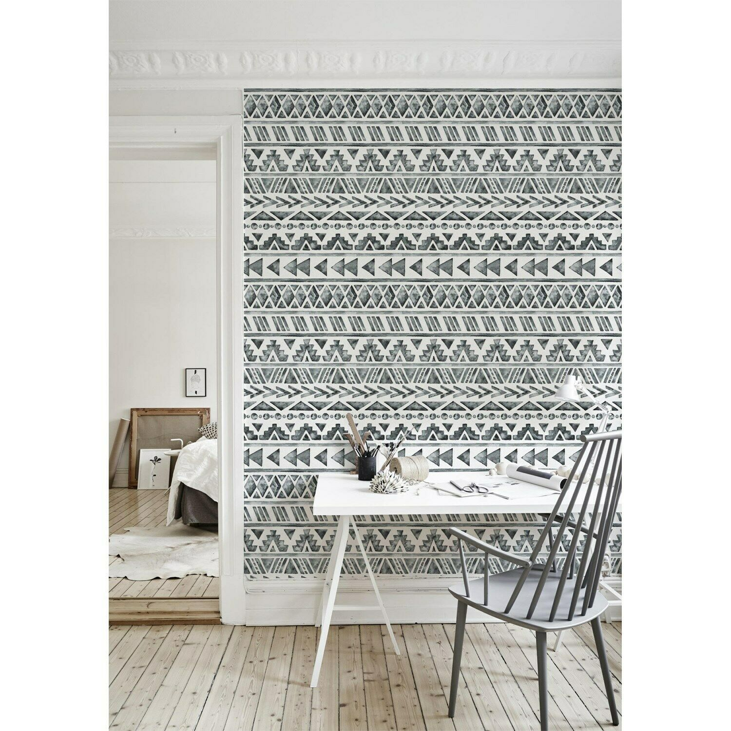 Faded Ethnic wall mural Geometric wall Home decor Simple Non-Woven wallpaper