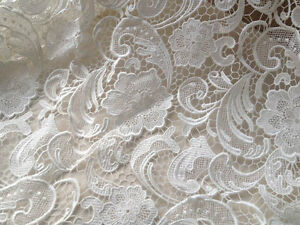 Image Is Loading Fl Venice Lace Fabric White Guipure