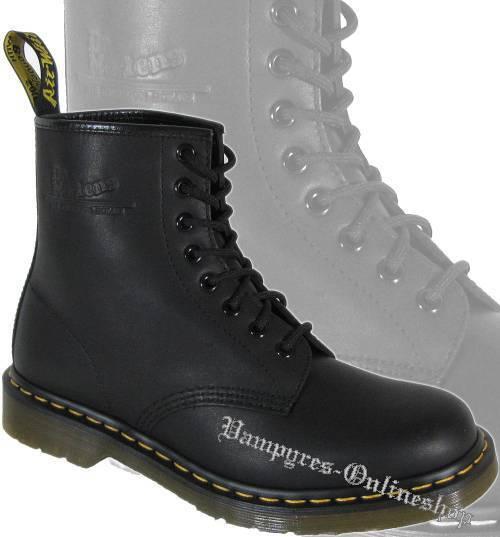 Dr. Martens 8-Loch Stiefel 1460 Greasy Harvey Matt Schwarz Docs Boots Doc Schuhe