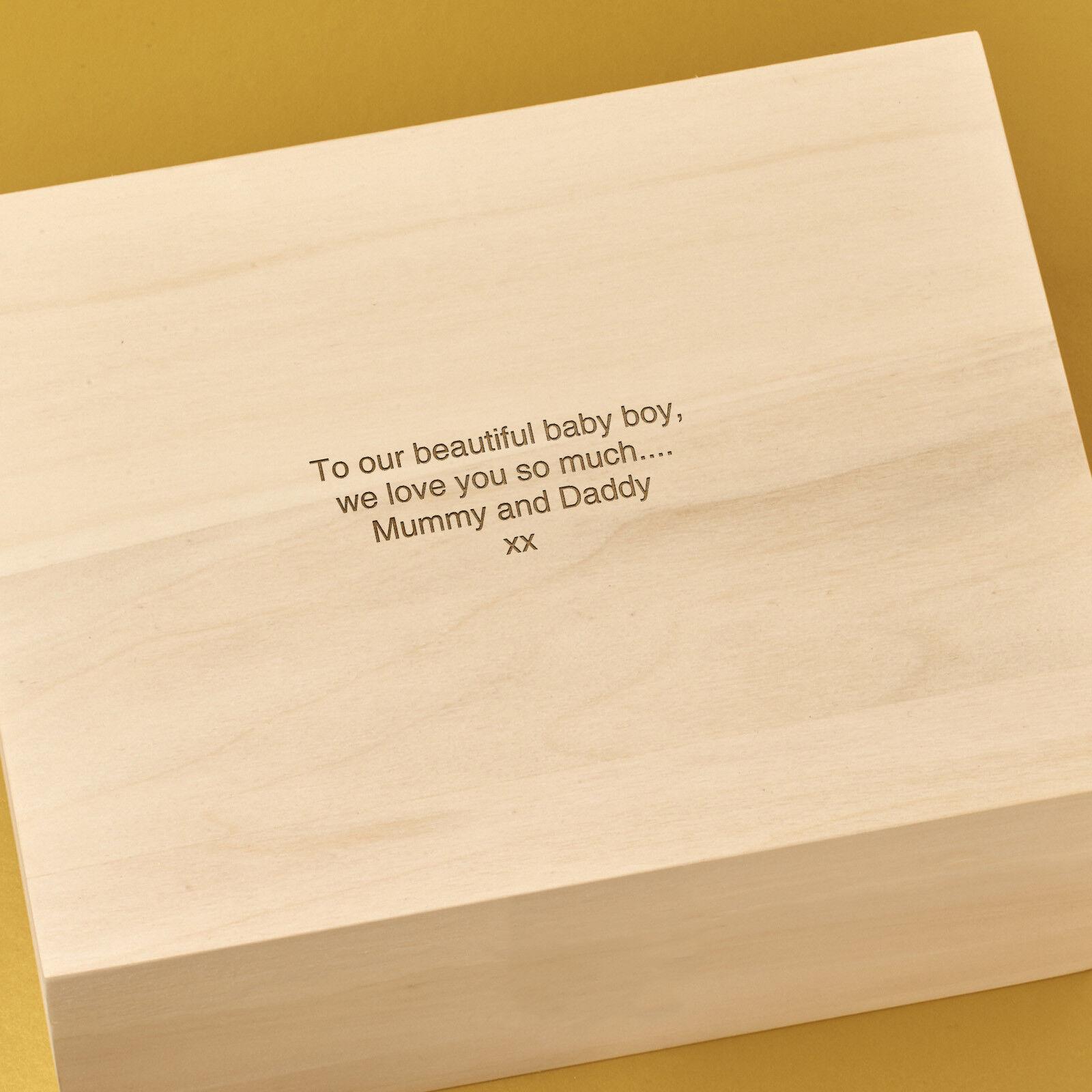Personalised Laser Engraved Wooden Keepsake, Keepsake, Keepsake, Memory Box -21 SCROLL 56f192