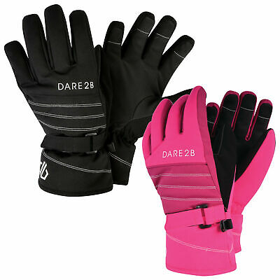 Girl/'s Dare2b /'Charmed Ared/' Waterproof Ski Gloves.