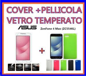 Cover-Custodia-morbida-per-ASUS-ZenFone-4-Max-ZC554KL-5-5-034-PELLICOLA-VETRO