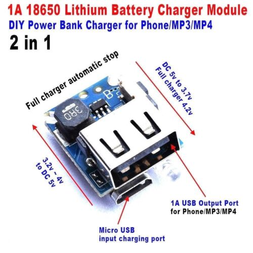 2in1 charge discharge board module DIY 18650 lithium battery Power Mobile Bank