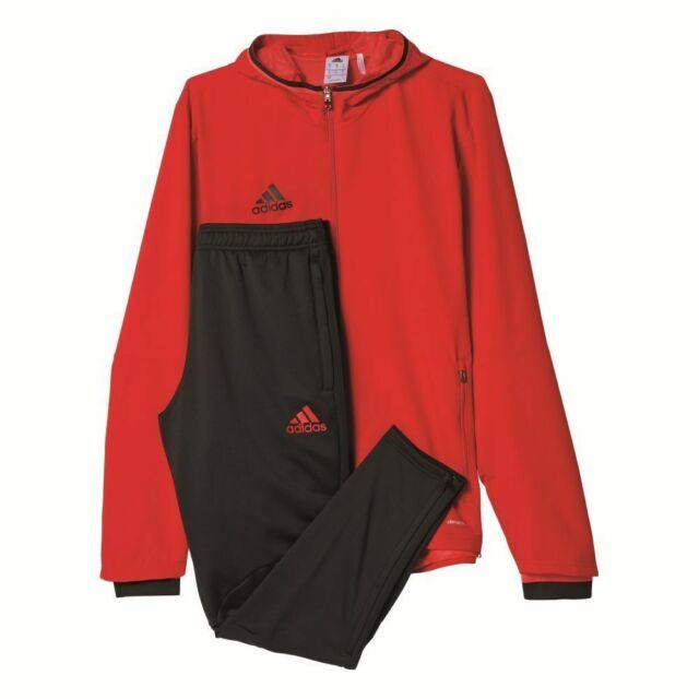 Adidas Fußball Condivo 16 Präsentationsanzug Herren Sportanzug rot schwarz