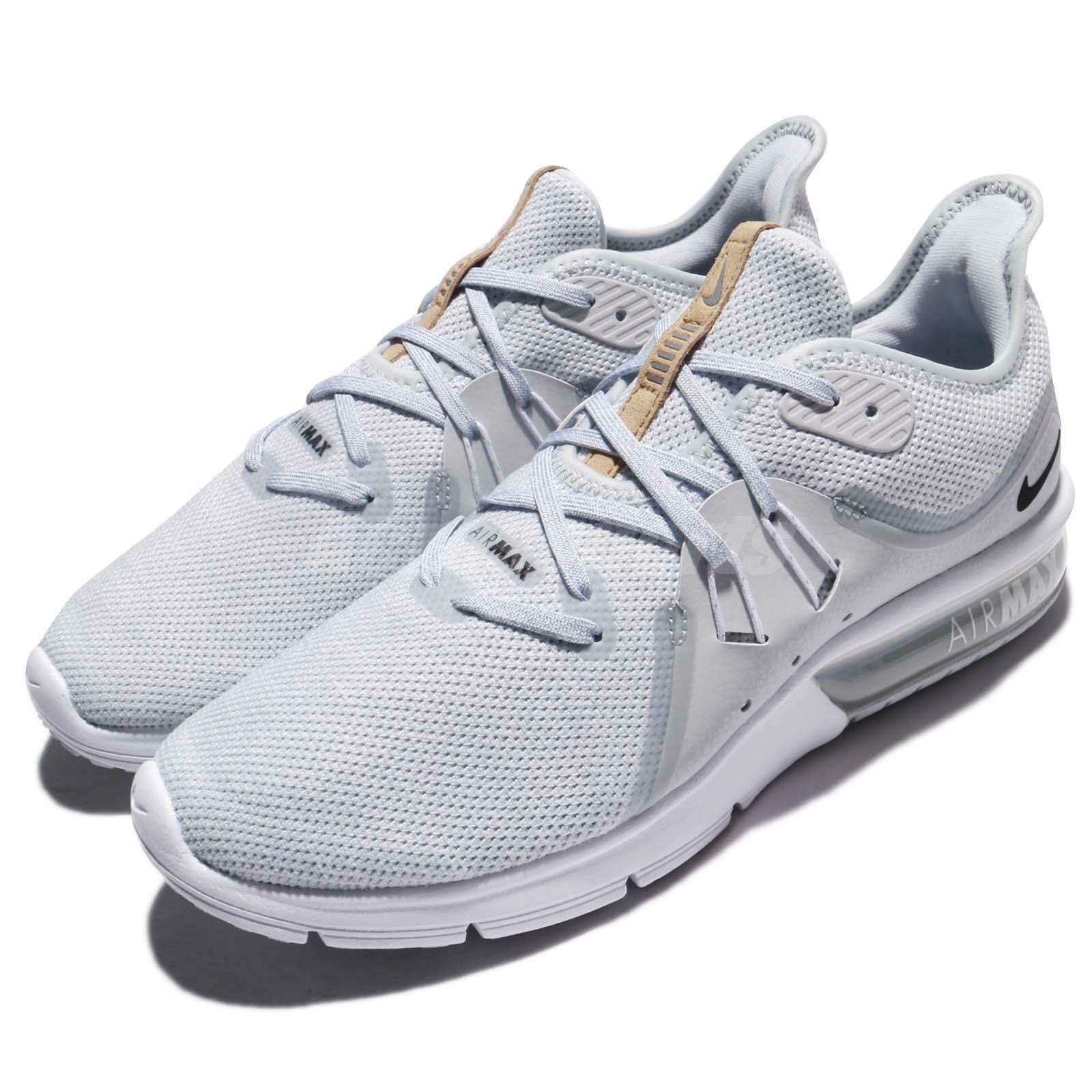 Nike Air Max Sequent 3 III Pure White Platinum White Pure Uomo Running Shoes 921694-008 3f8eb9