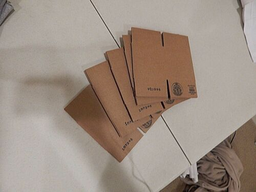 ULINE 4x4x4 Corrugated Cardboard Shipping Packing Boxes 5 pieces