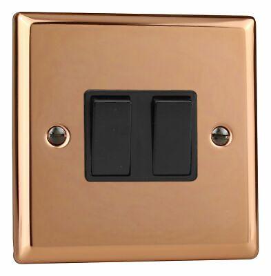 Varilight XY1W.CU Urban Pulido Cobre 1 Gang 1 o 2 vías interruptor de luz de eje de balancín