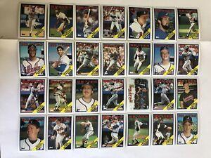 1988-ATLANTA-BRAVES-Topps-COMPLETE-Baseball-Team-SET-28-Cards-MURPHY-SUTTER