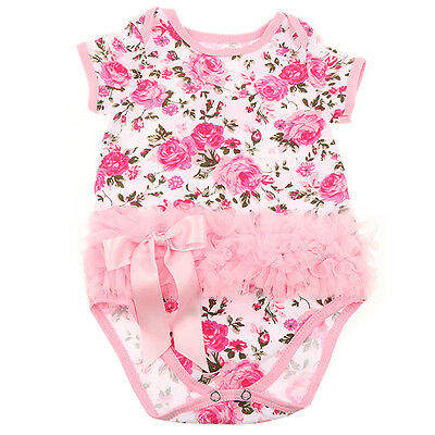 Rose Flower Baby Girls Romper Dress Newborn Kids Jumpsuit Outfits Clothes RM03