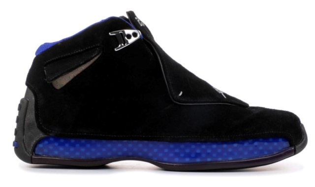 3e747ccdcc4 Men's Air Jordan Retro 18 Suede Black/Royal Athletic Fashion Sneakers  AA2494 007