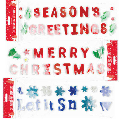 Christmas Window Static Clings Decals Xmas Party Decor Glass Stickers 19x27inch