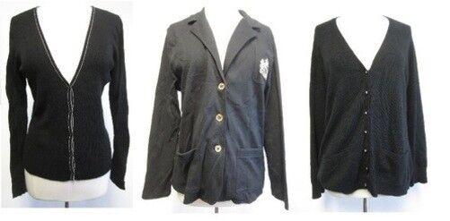 LOT OF 3 RALPH LAUREN schwarz blazer and cardigans Größe XL