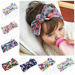 Baby-Kids-Girl-Infant-Flower-Bow-Hairband-Turban-Knot-Rabbit-Headband-Headwear