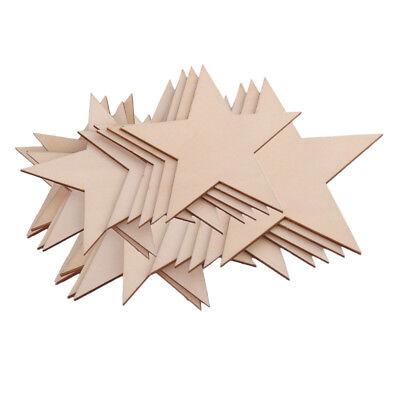 200pcs 10//20mm Unfinished Wood Shape Star Embellishment for Scrapbooking