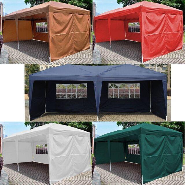 10'X20' EZ POP UP Wedding Tent Party Foldable Gazebo 4 Wall Canopy W/Carry Case