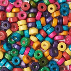 200pcs-6x3mm-Plat-Ronde-en-Bois-Spacer-Perles-en-Bois-Craft-Perle-A-faire-soi-meme-Jewelry-Making