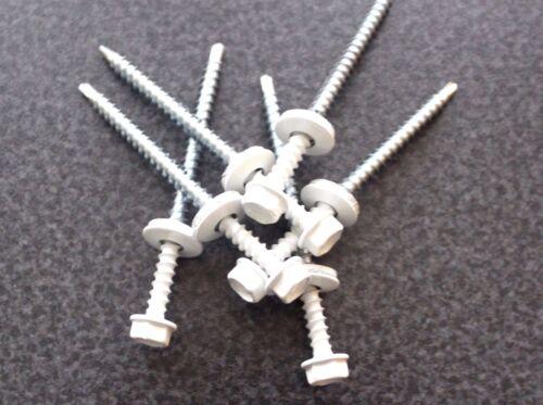 Trapezblech Schrauben Bohrschrauben 4,8 x 20 mm 250 Stück RAL 9003