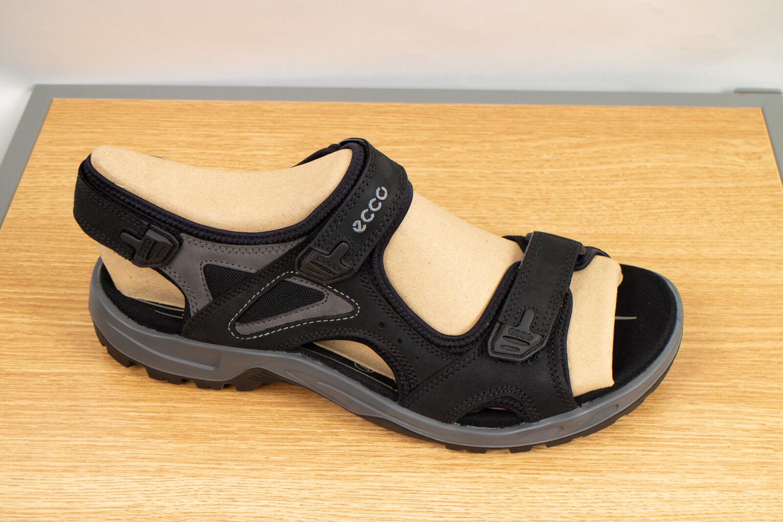 ECCO Men's Offroad Sandals Yucatan Leather - nero Dark Shadow Sz EU 48 USA 14