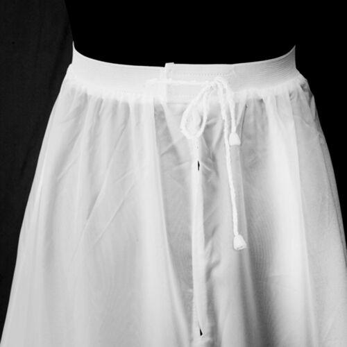 32-58 abito da sposa Crinolina sottoveste Sotto Gonna Bianco Nero con 2-3 anelli MIS