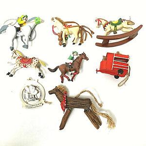 Horses Christmas Lot Of 8 Ornaments