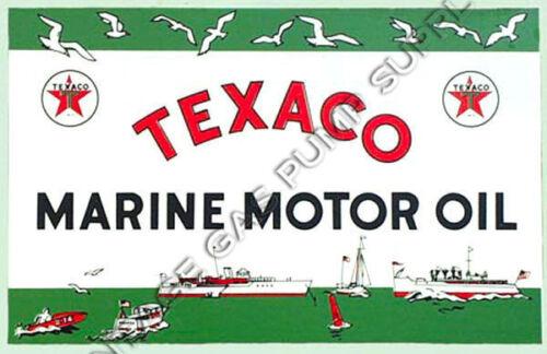 "Texaco Marine 8.25/""x5.25/"" Water Transfer Decal DW421"