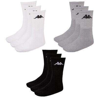 Kappa Tennissocken 3er Pack Socken Sportsocken Größe 36-38 weiß  Neu