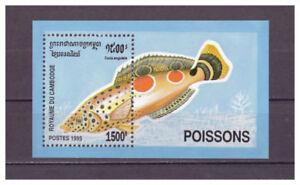 Cambodge-Poissons-Minr-1548-Bloc-216-1995