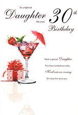 30th DAUGHTER BIRTHDAY CARD AGE 30 QUALITY WITH NICE VERSE BY ICG