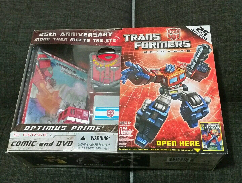 Transformers Generation 1 ReIssue Optimus Prime Boxed W Trailer Set Lot MISB G1