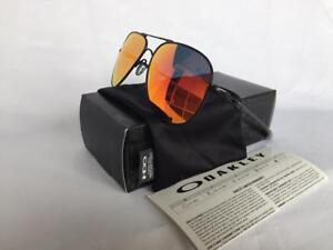 404541c4ee New Oakley ELMONT M Sunglasses Satin Black Ruby Iridium Aviator ...